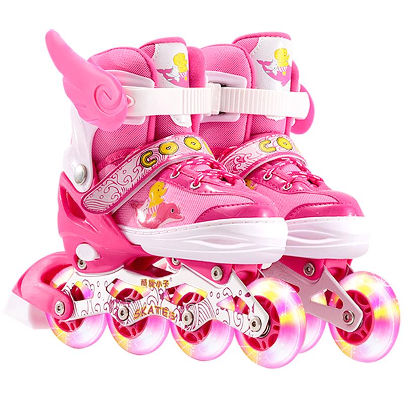 溜冰鞋儿童全套装男女旱冰鞋轮滑鞋直排轮3-4-5-6-8-10-12岁初学