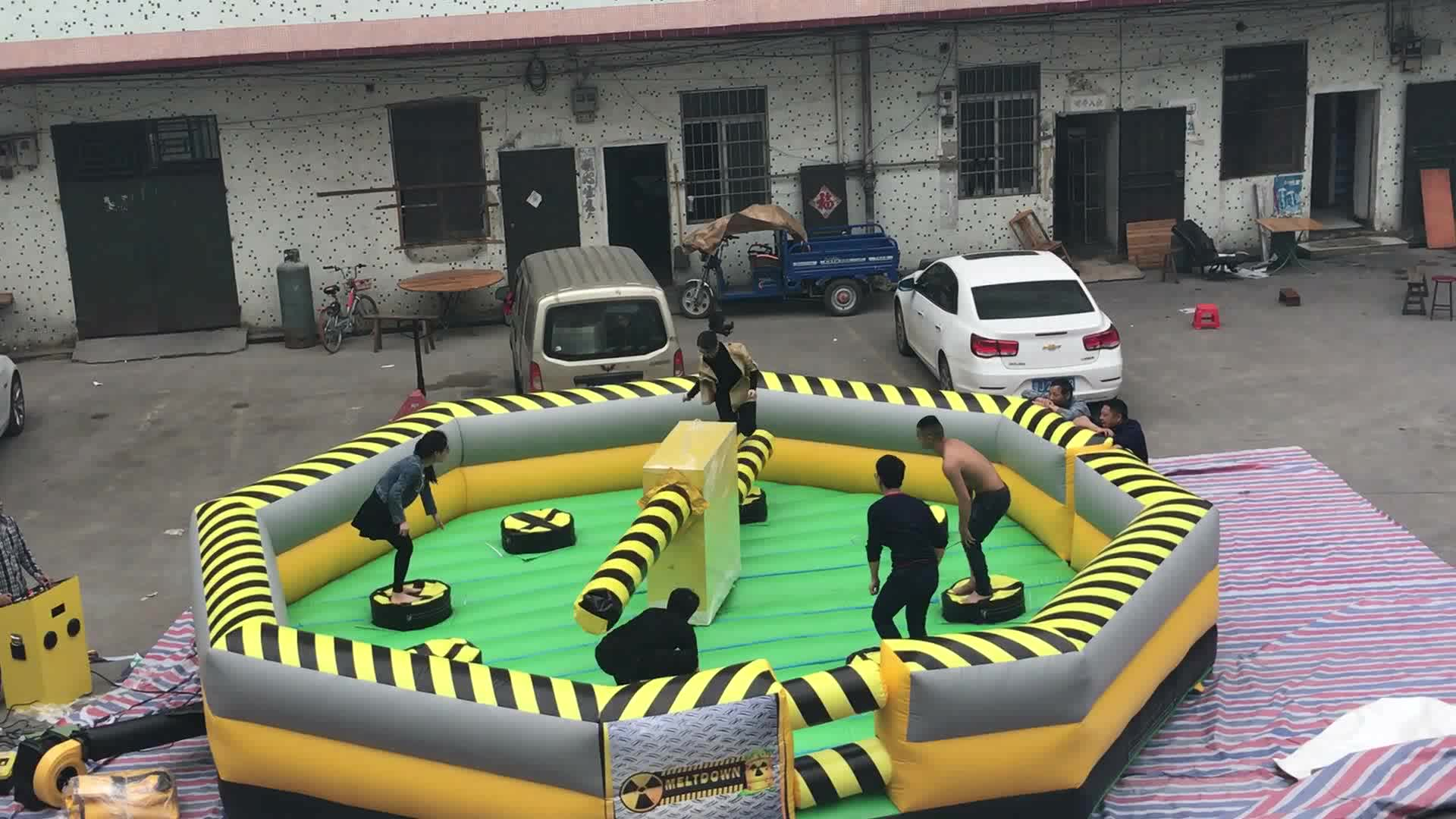 hot game inflatable meltdown/ inflatable wipeout for sale /inflatable wipeout course