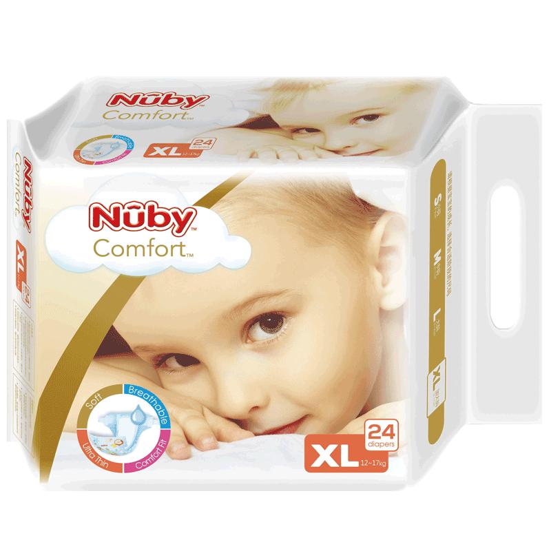 【美国Nuby】超薄透气纸尿裤XL24片