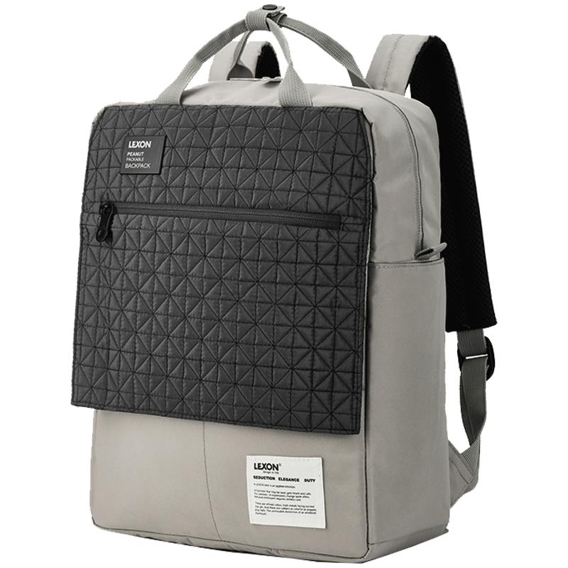 乐上LEXON新款背包男双肩包时尚简约大学生书包女电脑包旅行休闲_天猫超市优惠券
