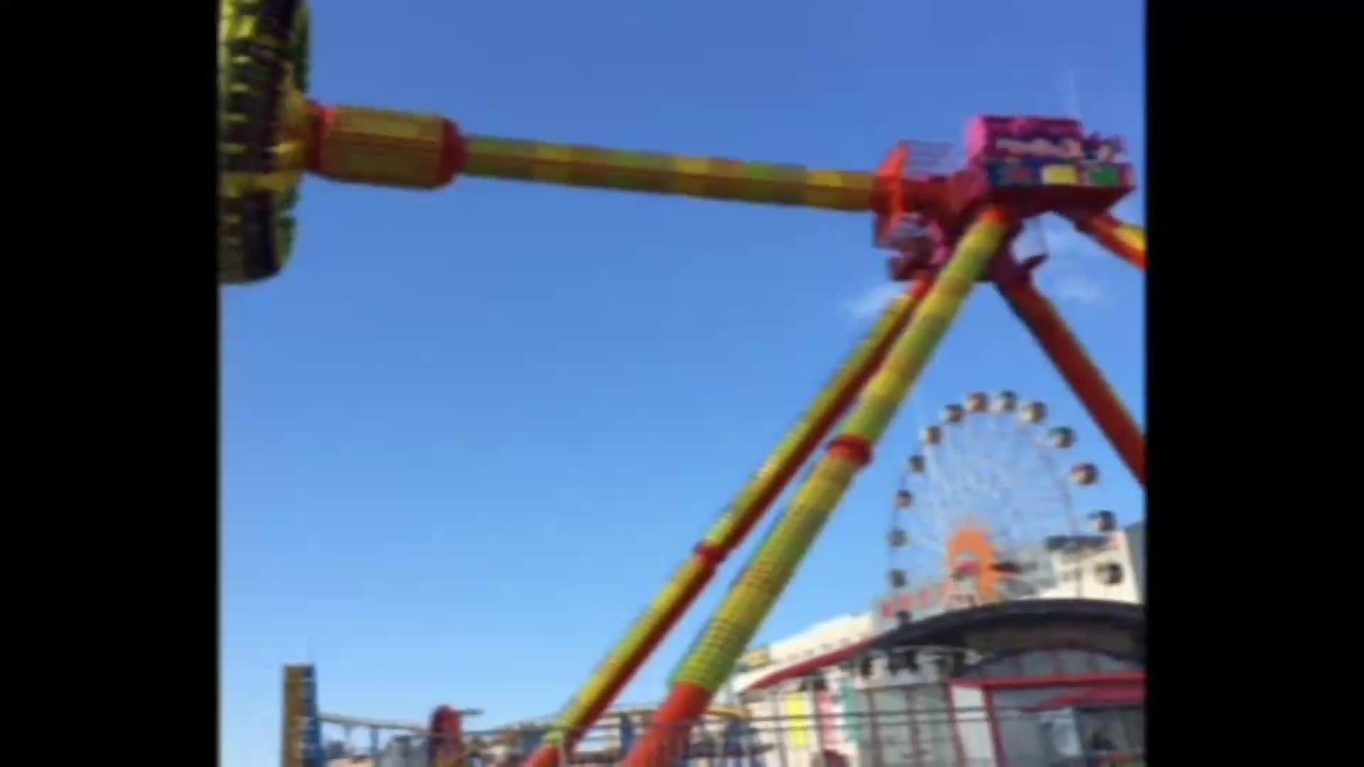 Klassische vergnügungspark schaukel fahrten riesigen pendel super frisbee fahrgeschäfte