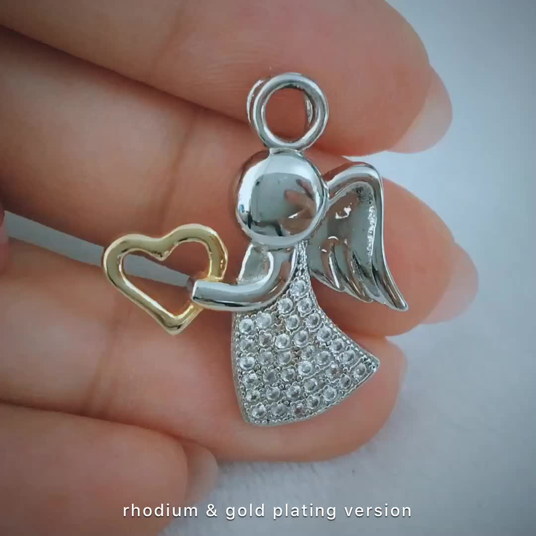 Pingente de anjo de prata de alta qualidade