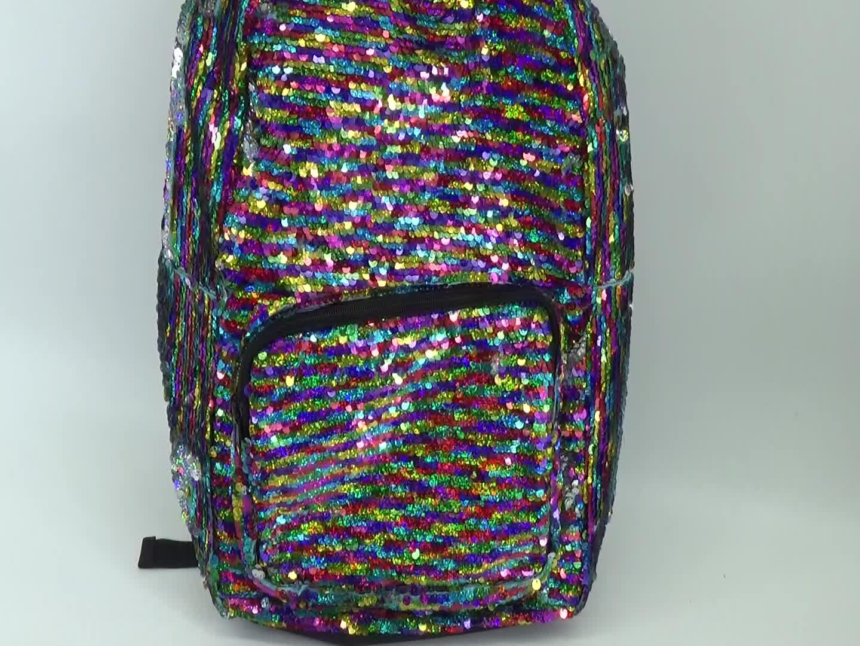 चीन कारखाने उच्च क्षमता फैशन स्कूल बैग बैग सस्ते कीमत उच्च गुणवत्ता जिपर थोक सेक्विन बैग