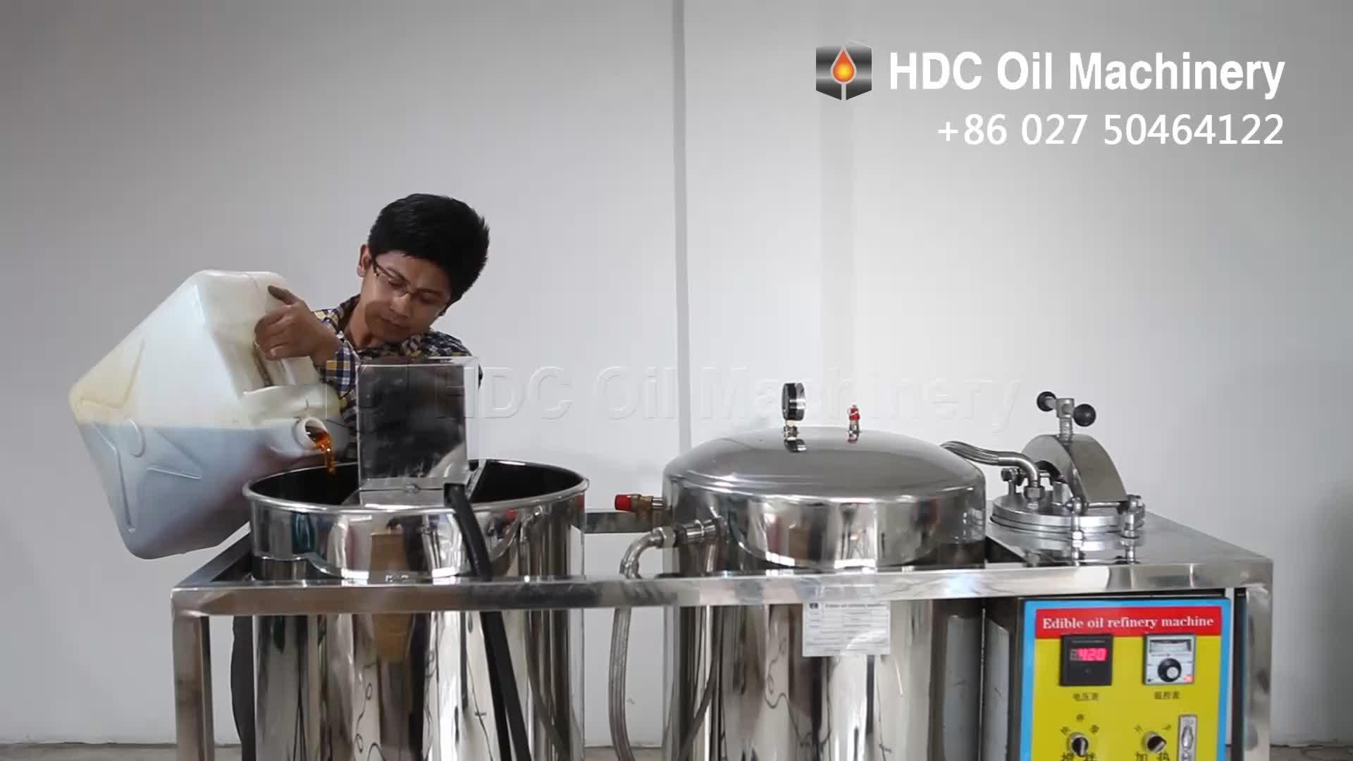 De pequeña escala de aceite comestible máquina de refinación de petróleo crudo máquina Refinería de mini aceite vegetal máquina refinería