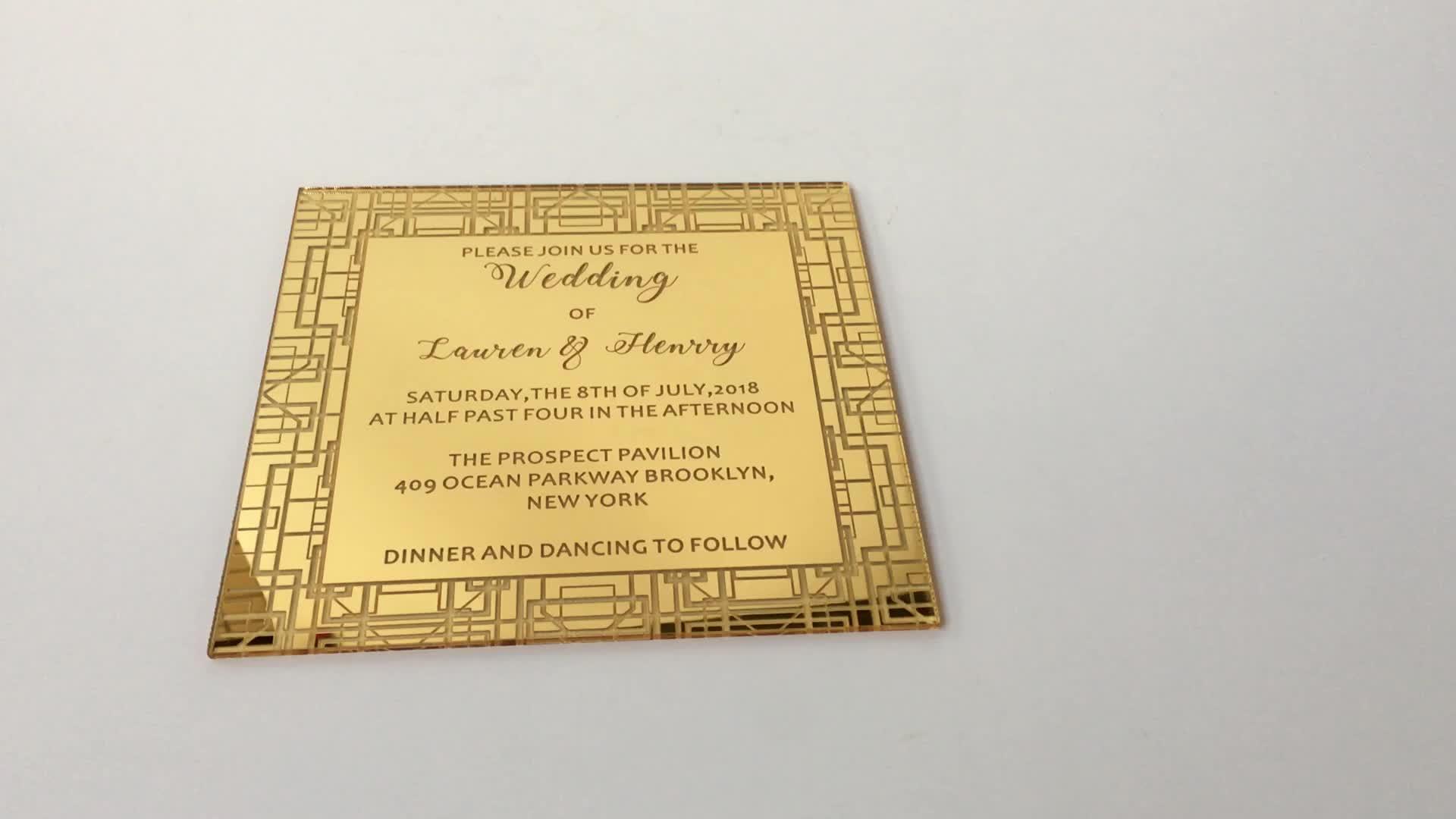 Cheap 80*60mm acrylic wedding thank you card design