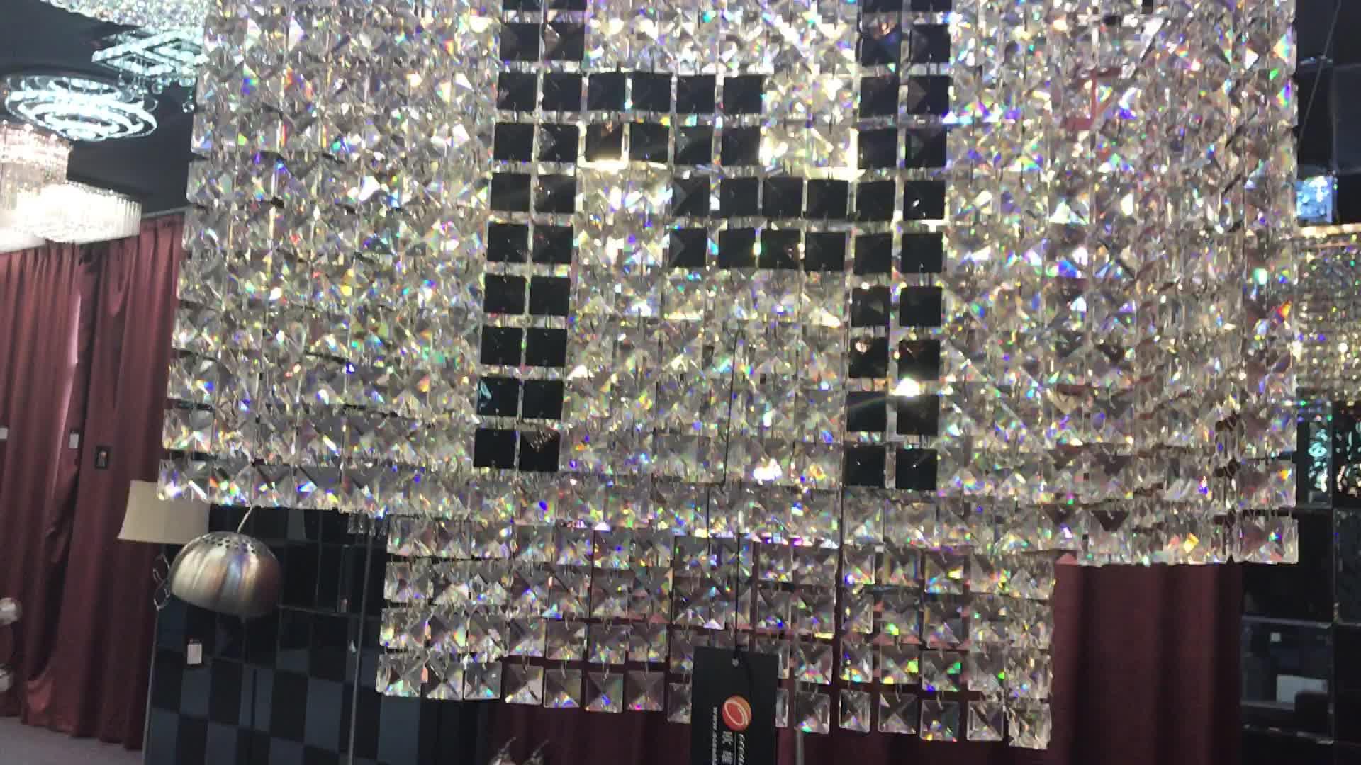 حار بيع الكريستال ضوء السقف الحديثة ديكور الإضاءة المعيشة غرفة Plafond مصباح مع CE بنفايات OM88443