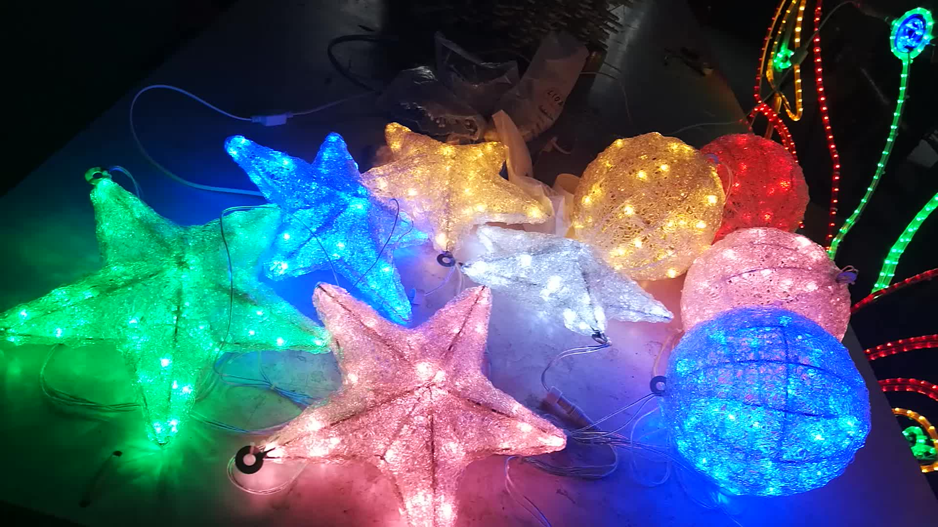 christmas hanging 3d motif top ceiling led star light - Star Lights Christmas