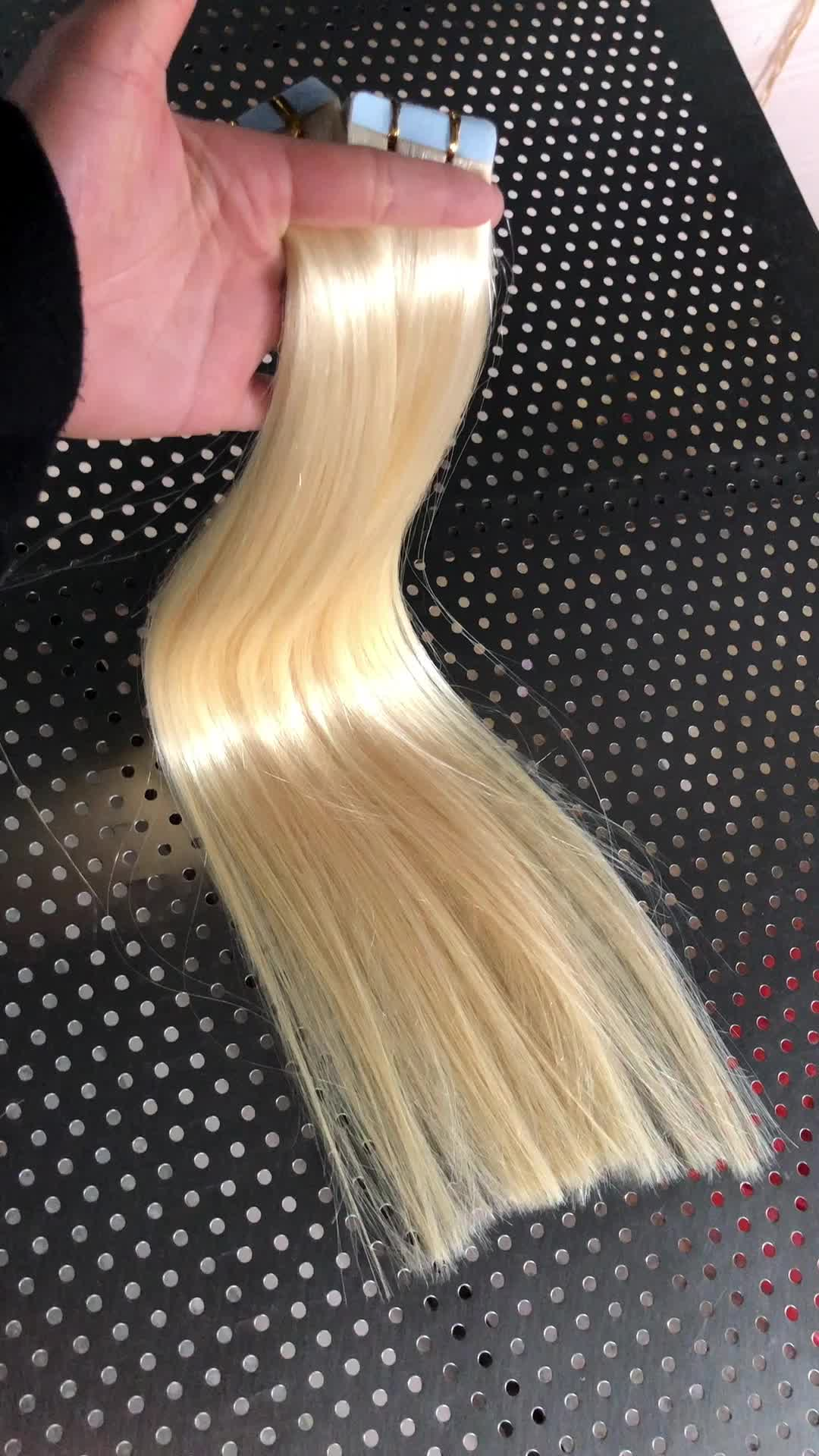 Double Drawn Tape Hair Extensions Free Sample Hair Bundles Straight
