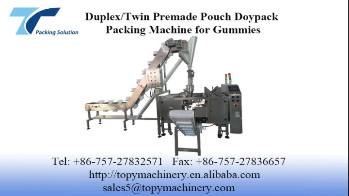 Duplex Doypack Aseptic Pouch Packing Machine for Gusset Pillow Bag
