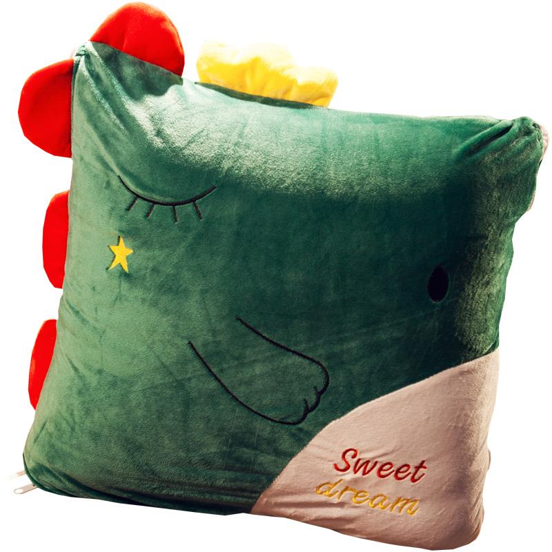冬季折叠汽车抱枕被子两用车上靠枕评价如何