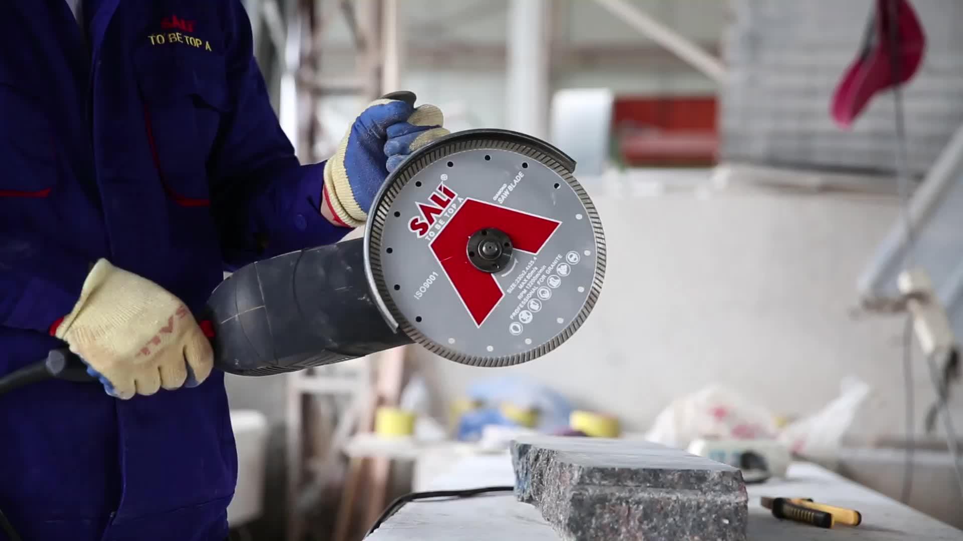 14 inç 350*3.2*22.2mm Soğuk Pres kuru kesme elması kesme diski beton için