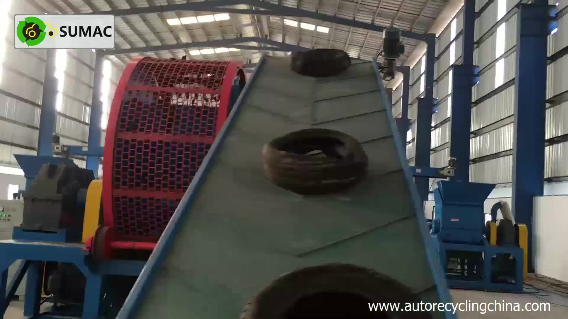 Sumac waste tire recycling rubber powder plant for sale