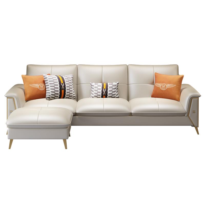 轻奢沙发头层牛皮小户型现代简约质量好不好