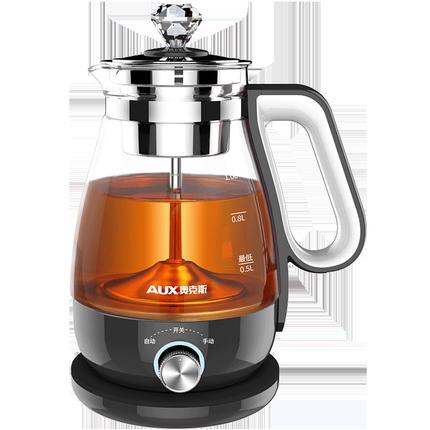 奥克斯煮茶器黑茶普洱玻璃电蒸茶壶
