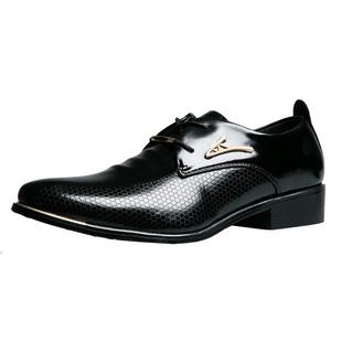 尖头皮鞋男真皮韩版正装内增高6cm春秋季透气青年黑色商务皮鞋男