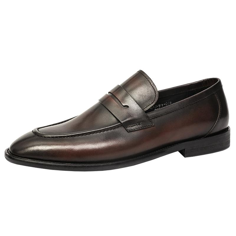 春季休闲真皮潮流英伦风尖头男鞋质量如何