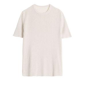 短袖冰丝针织衫夏季黑白圆领配t恤