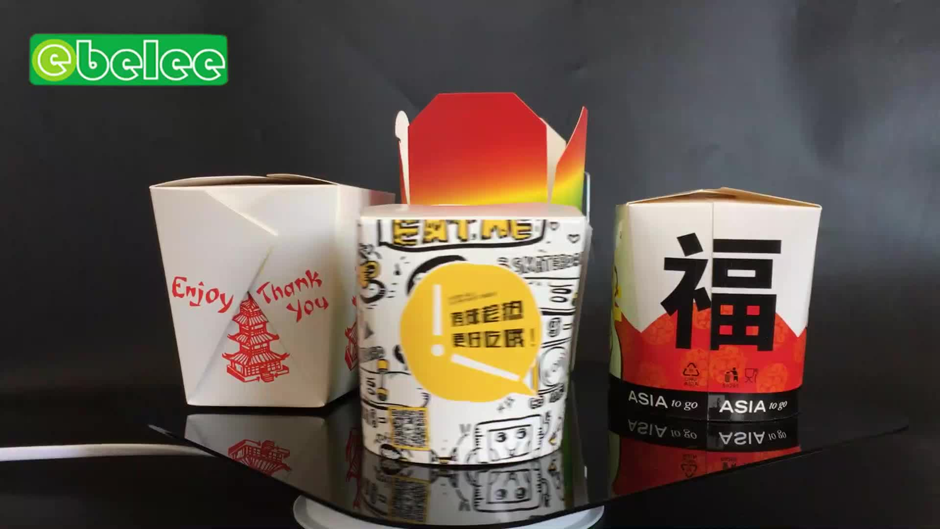 round chinese noodle paper box