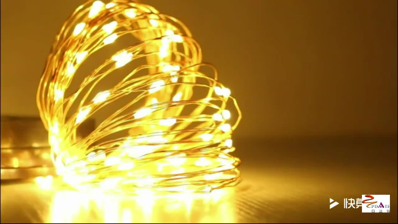100 LED Solar Copper Wire Lights String for Outdoor