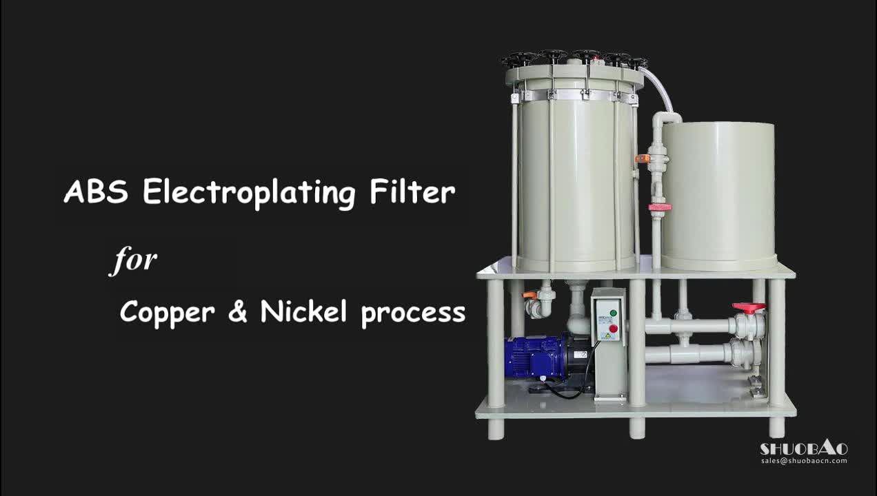 PP material filtration electroplating water filtration plant with RO system