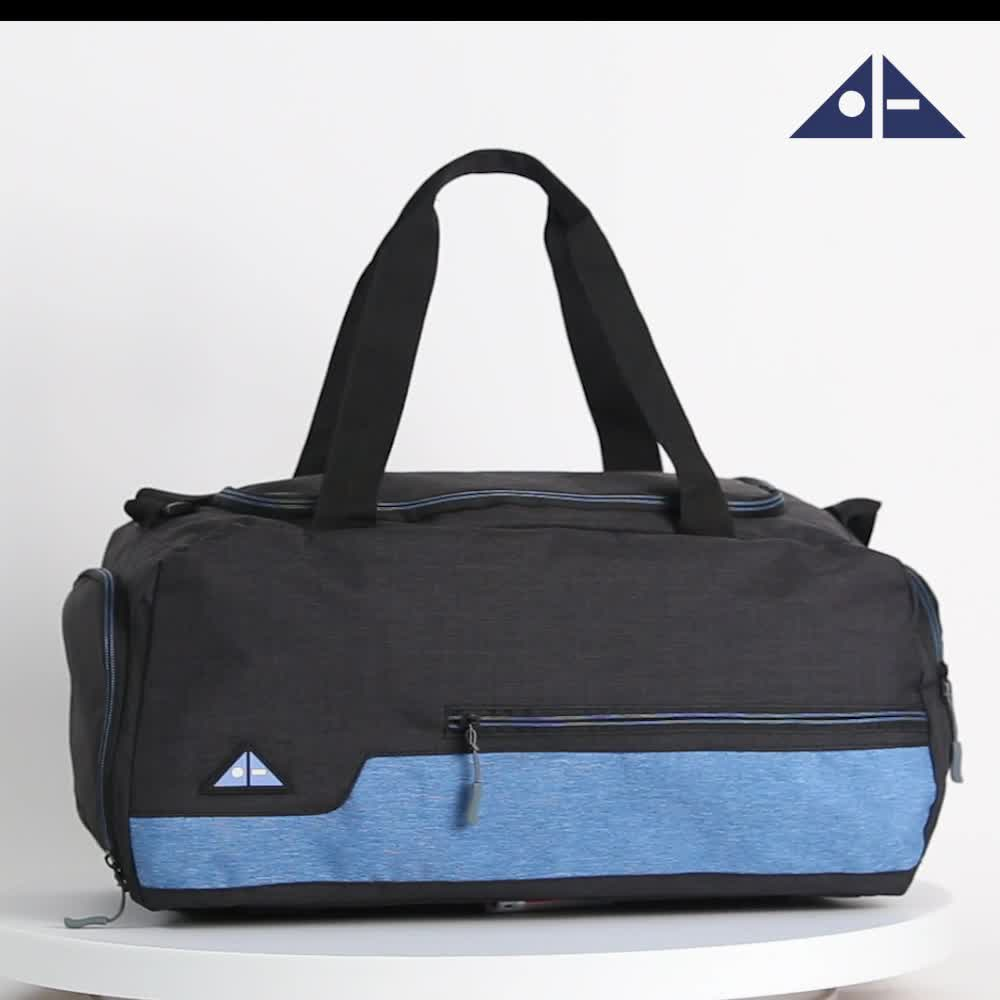 Amazon Sell Well Water Resistant Polyester Sports Gym Travel Weekender Duffel Bag