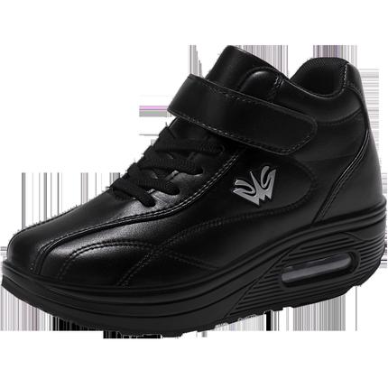 女鞋子高帮运动加绒棉鞋气垫休闲鞋