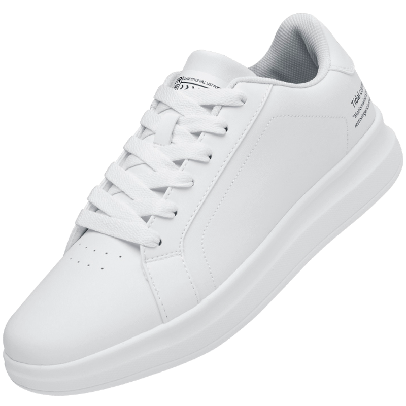 鸿星尔克官方板鞋女小白鞋2020新款春季休闲鞋白色厚底潮运动鞋女
