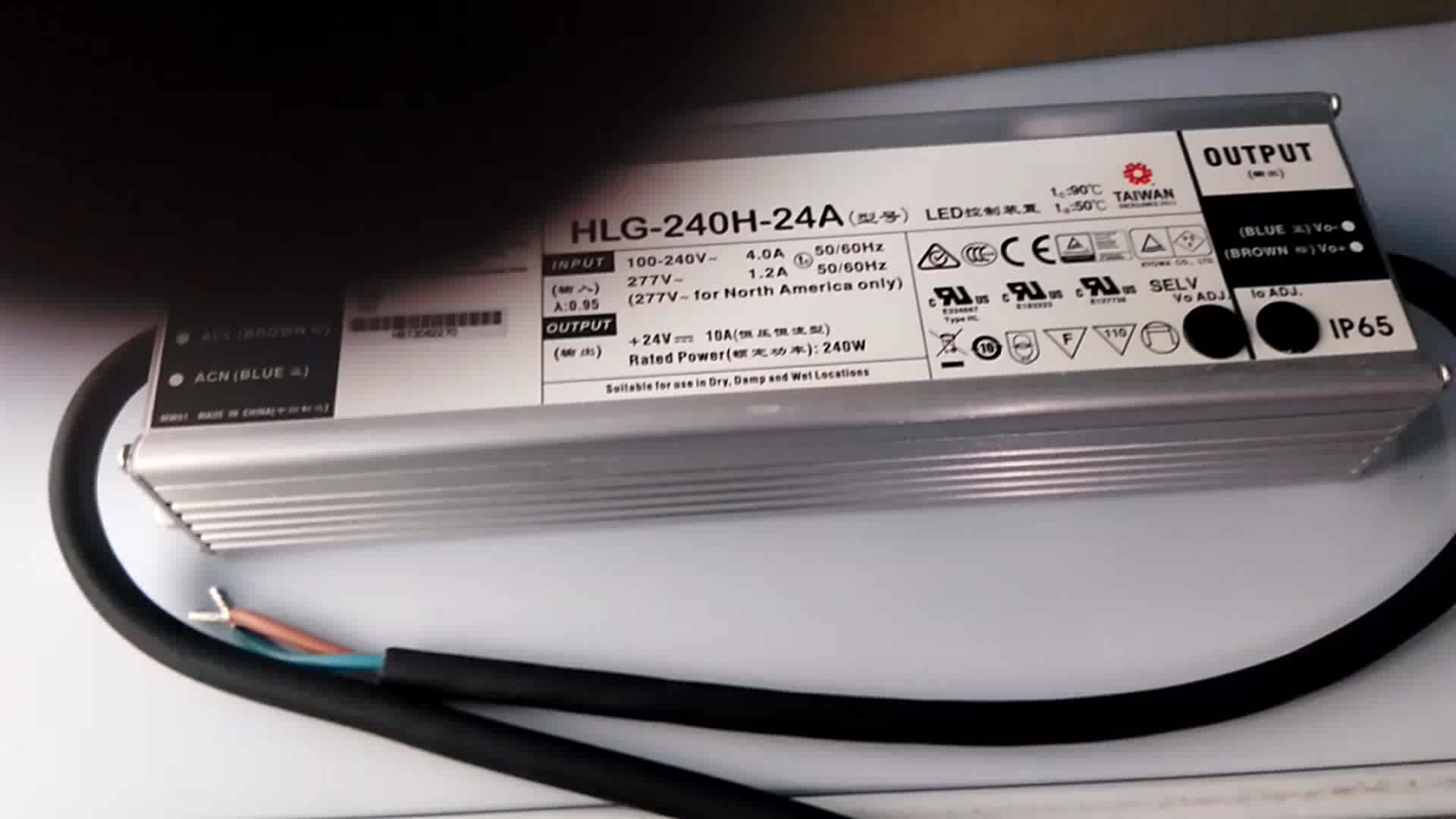 Meanwell Hlg 240h 36 High Voltage Led Driver Ic 36v 240w Single Power Circuit Output Waterproof