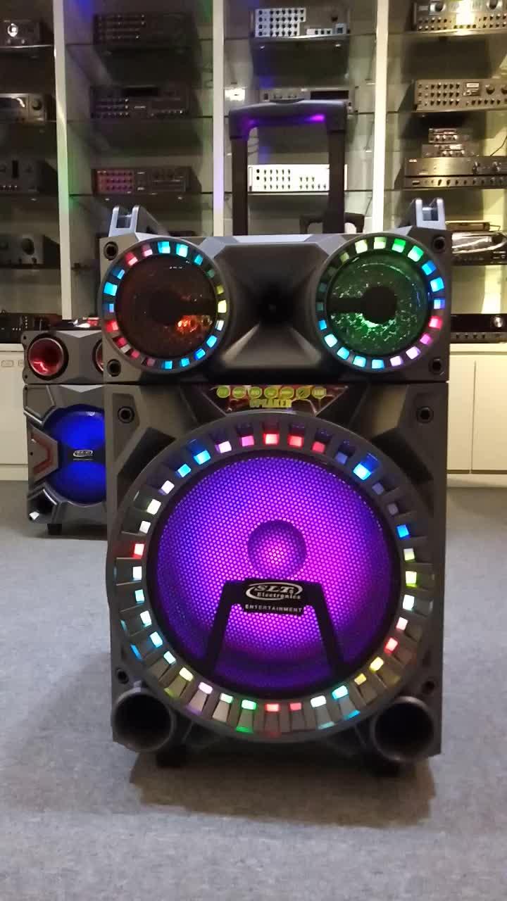 Portable speaker stadio 12 ruote trolley box speaker con batteria