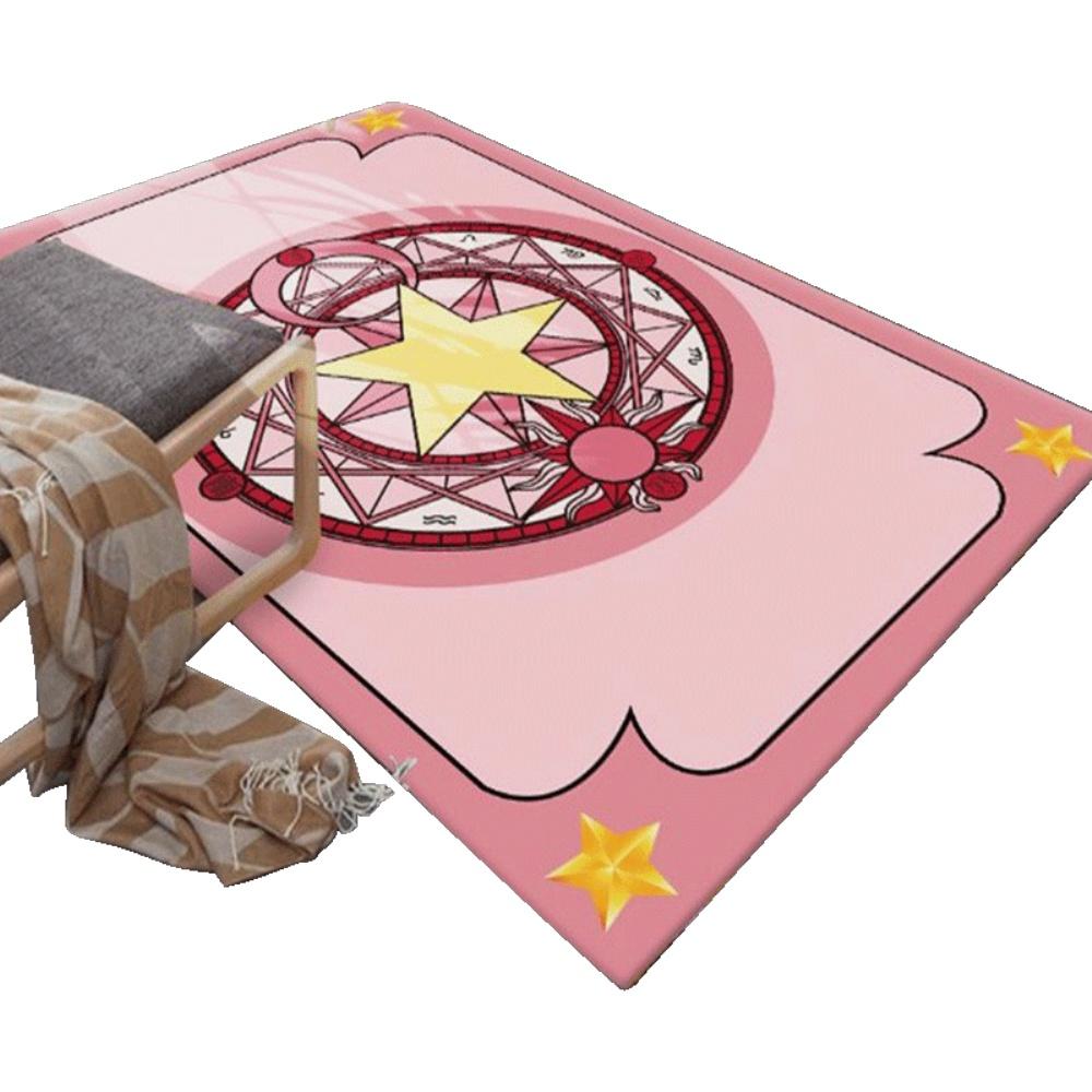 小樱可爱粉色潮牌长方形客厅地垫