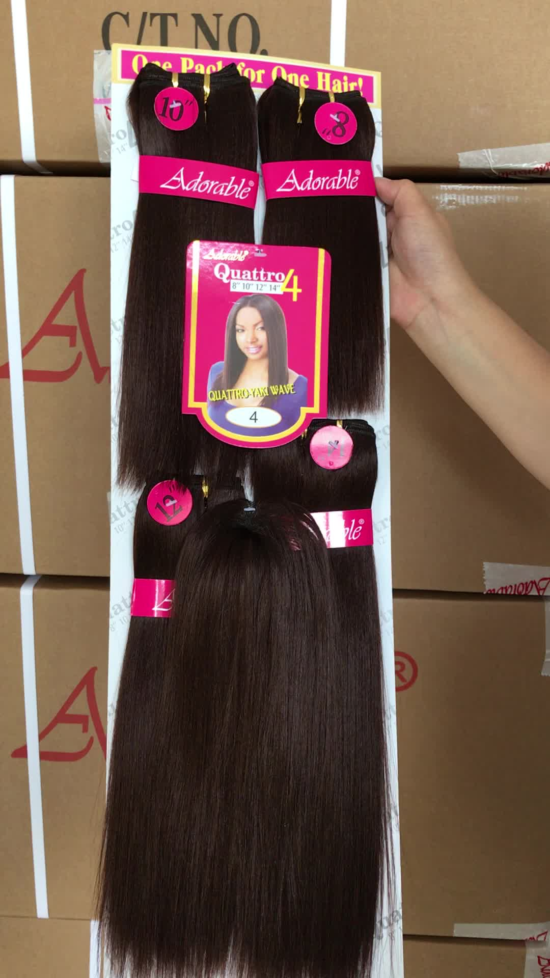 Wholesale Cheap Synthetic Hair Weavingweft With Top Quality Yaki