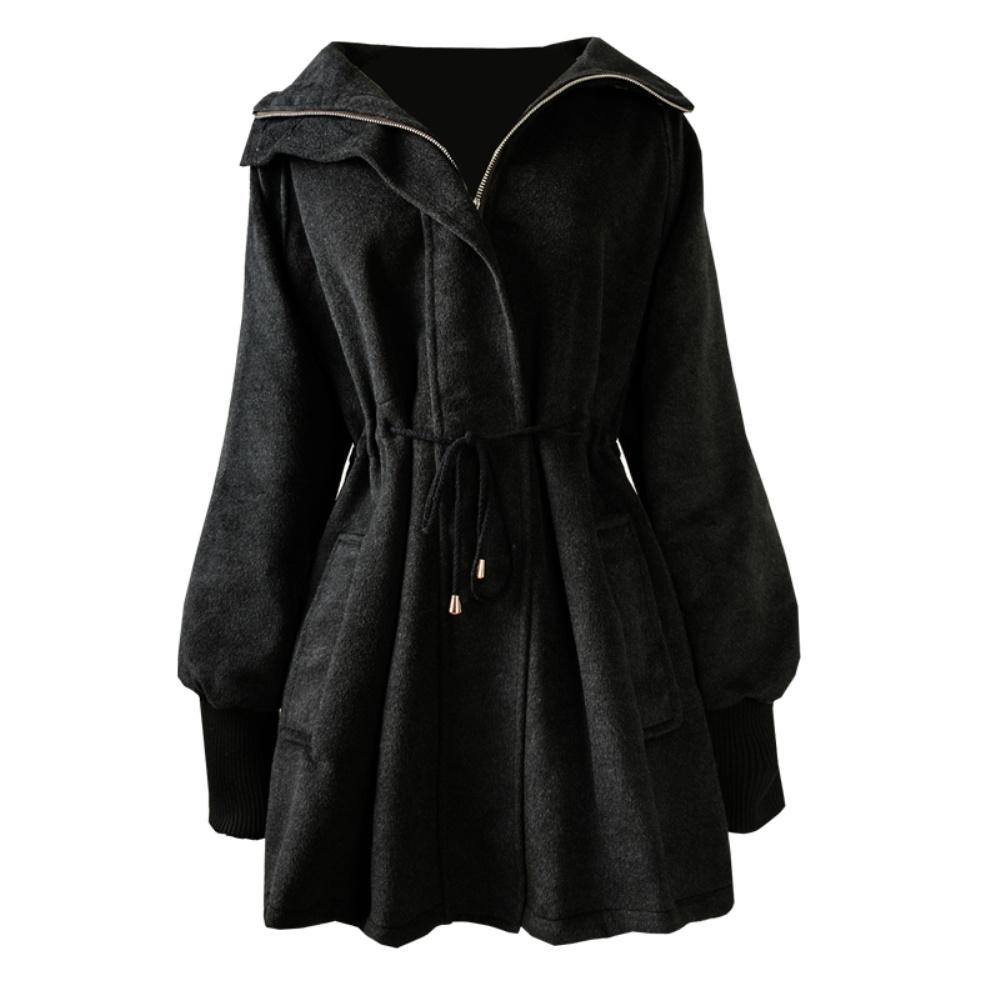 呢子中长款韩版加大码女装秋冬大衣评价好不好