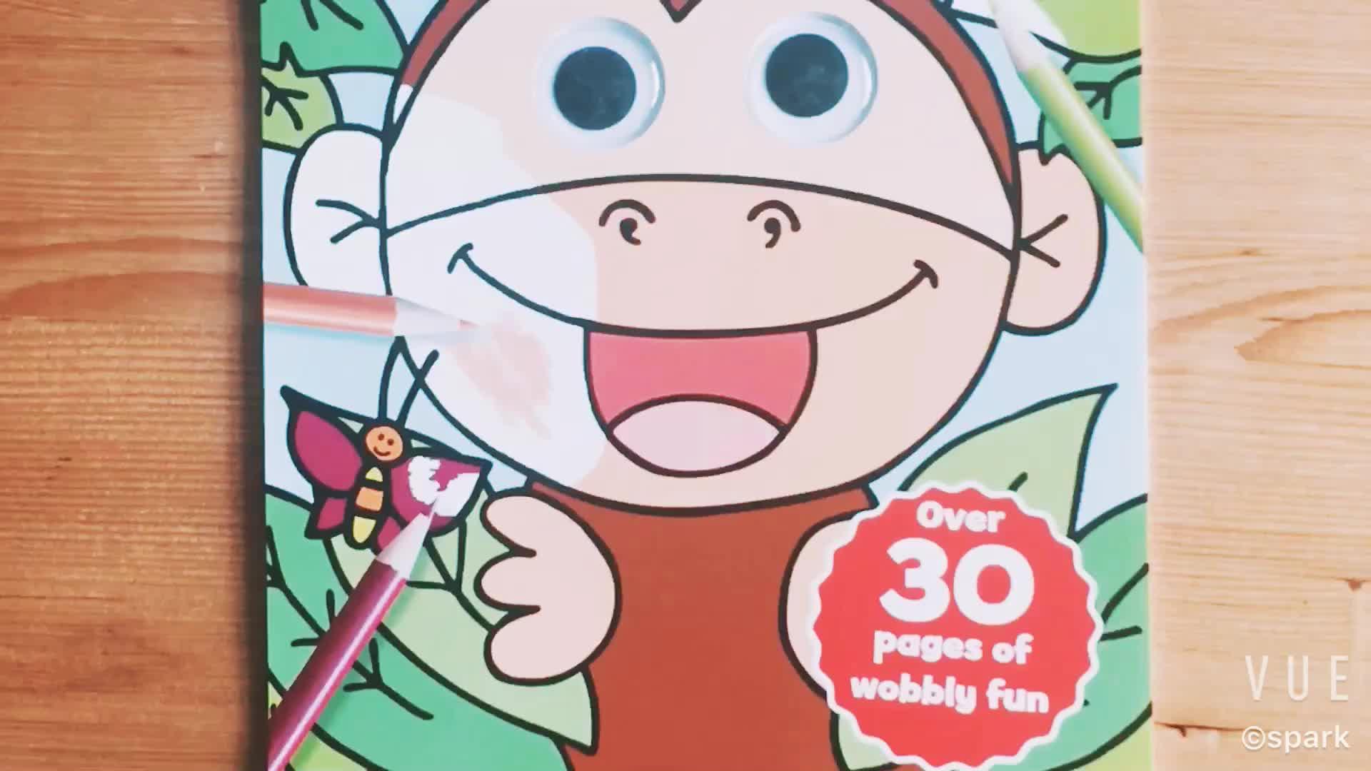 كتاب تلوين العين googly مخصص للأطفال
