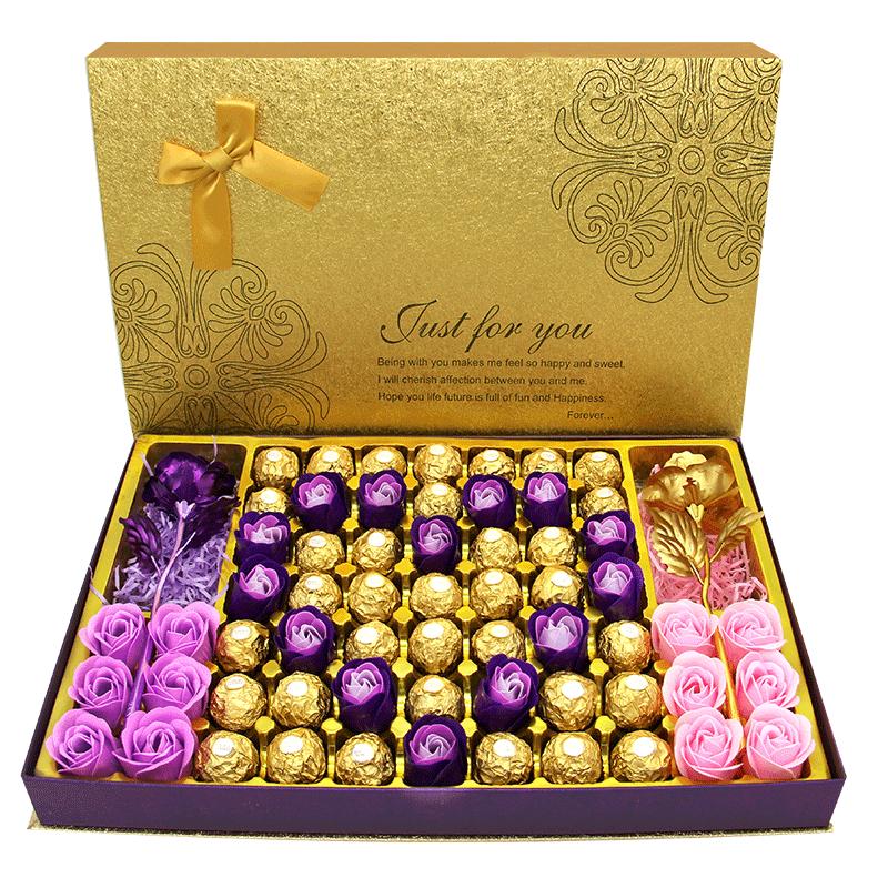 费列罗礼盒装送女友心形费力罗创意