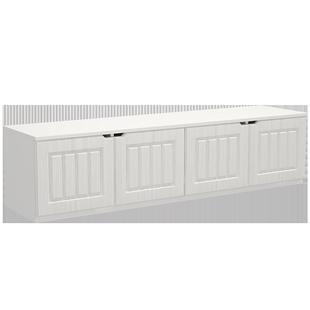 飄窗櫃定製陽台櫃窗邊櫃可坐簡易自由組合矮櫃收納儲物櫃簡約現代