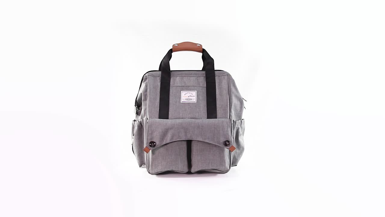 Fashion Multi-function Baby Diaper Bag Backpack with Stroller Straps