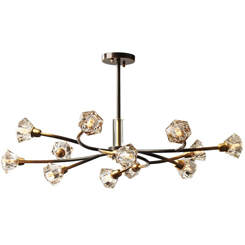 雷士照明后现代轻奢全铜水晶吊灯评价如何
