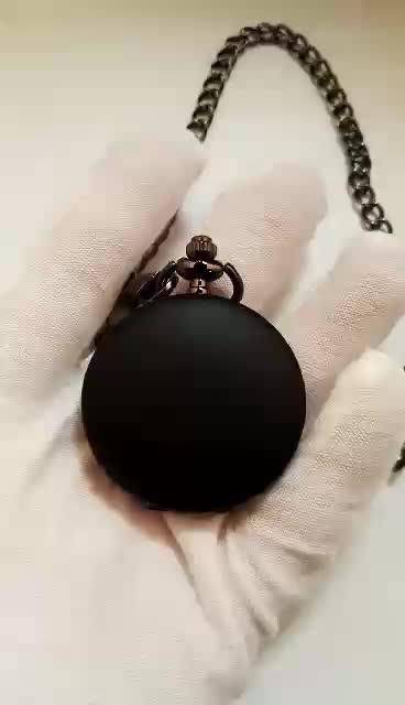 China factory wholesale High Quality Matte Black blank Pocket Watch with cheap price