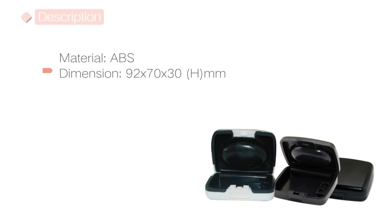 Good quality ABS white plastic waterproof hearing aid case