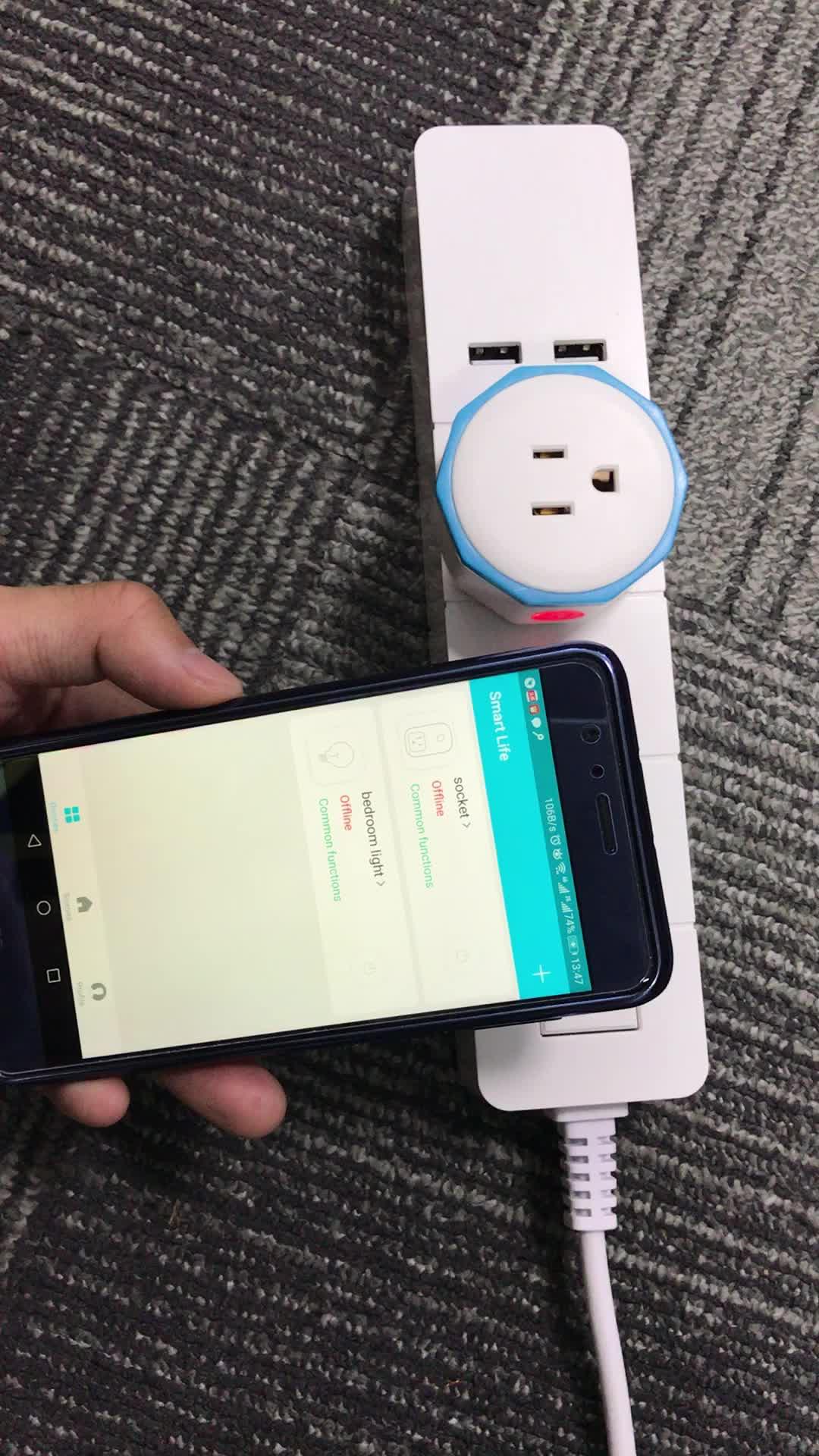 Wifi Smart Phone Remote Control Switch Socket Works With Alexa/echo Us Plug  - Buy Wifi Smart Phone Remote,Switch Socket Works With Alexa,Timer Switch