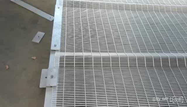 High Security Poweder Coated Steel Welded 358 Anti Climb Fence