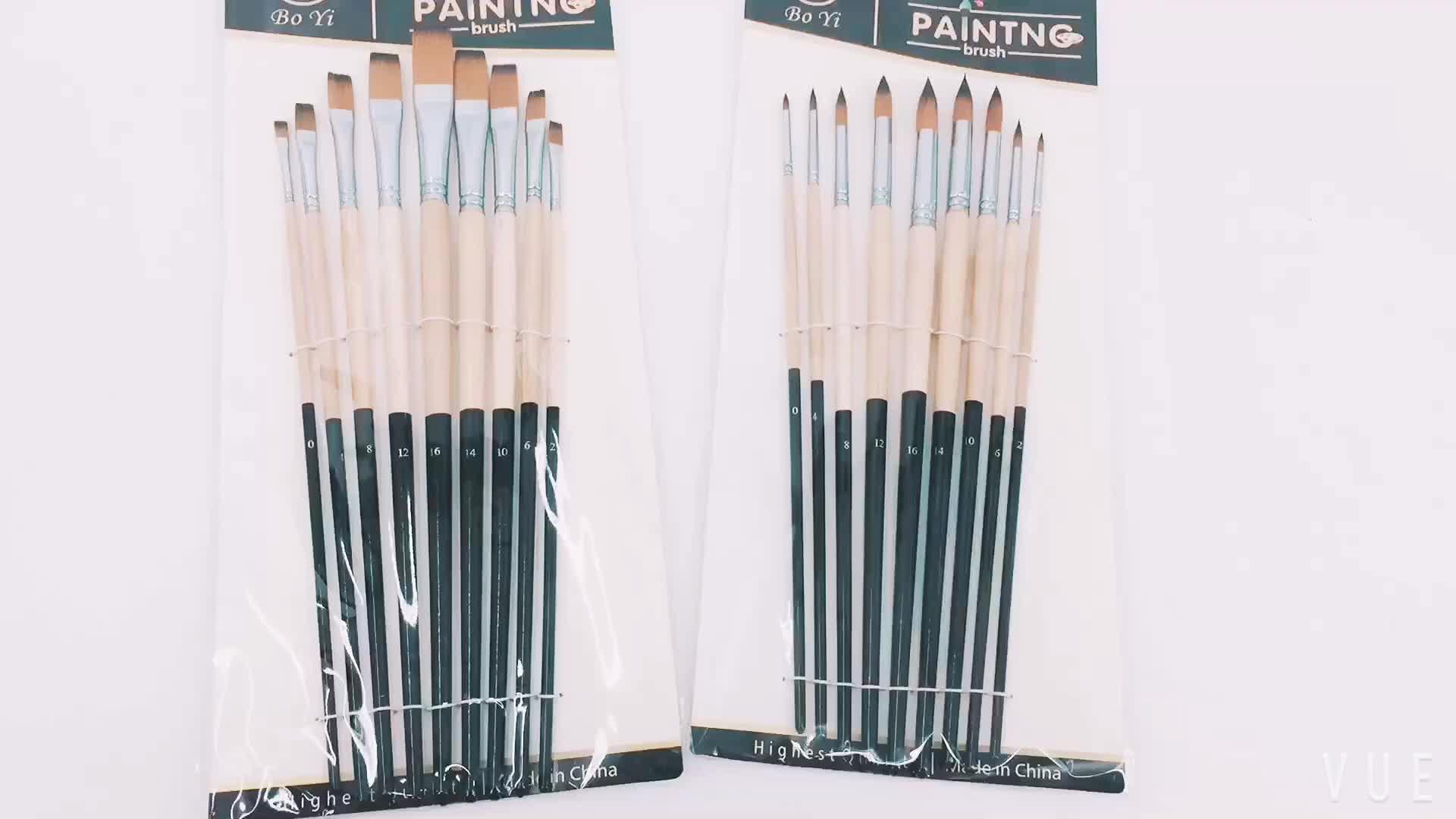 Wholesale art brush oil watercolor acrylic paint brush for Wholesale craft paint brushes