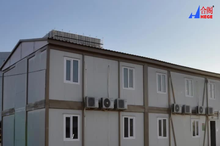 LUXURY FLAT PACK CONTAINER HOUSE WITH SHIPPING CONTAINER OUTLOOK
