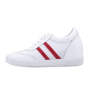 内增高小白鞋夏季透气网面真皮女鞋