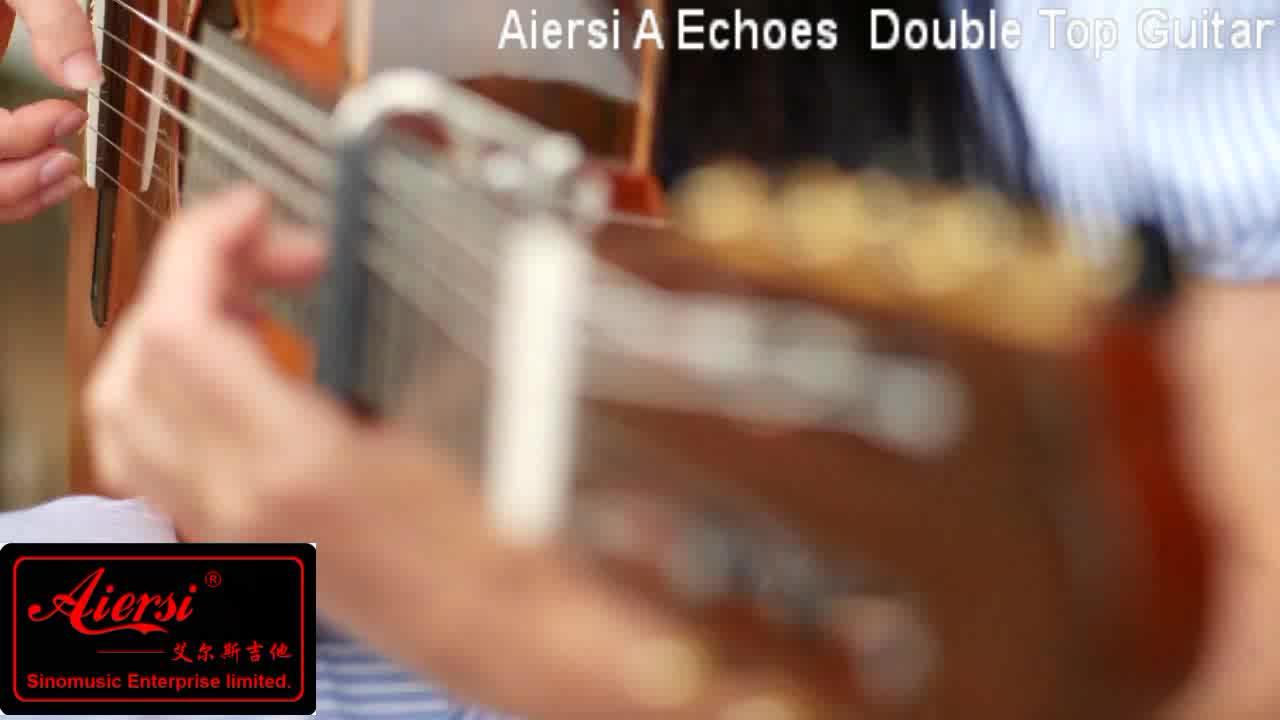Personalizado global profissional artesanal topo duplo violão