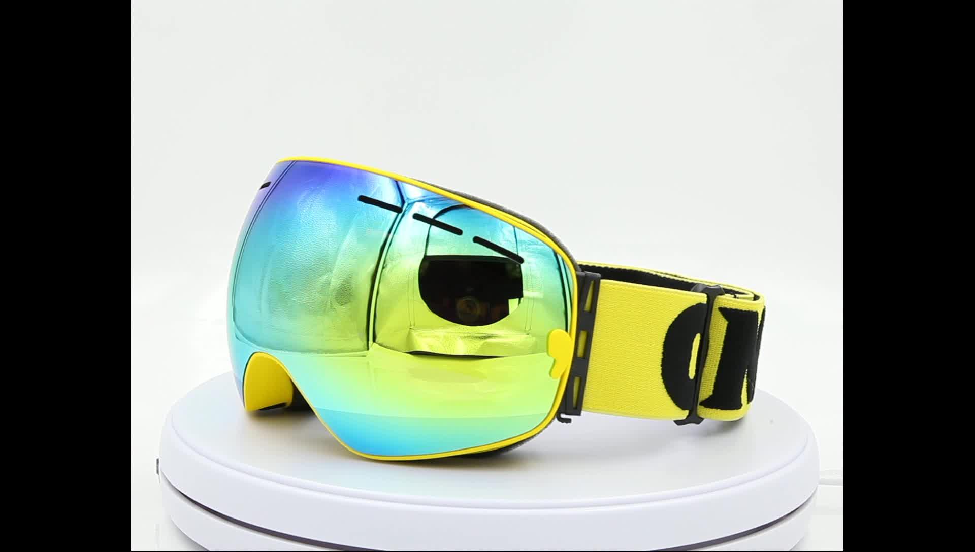 PC レンズスキーゴーグル偏光利用可能な OMID-3100 安い快適な任意の色カスタムロゴ雪ゴーグル