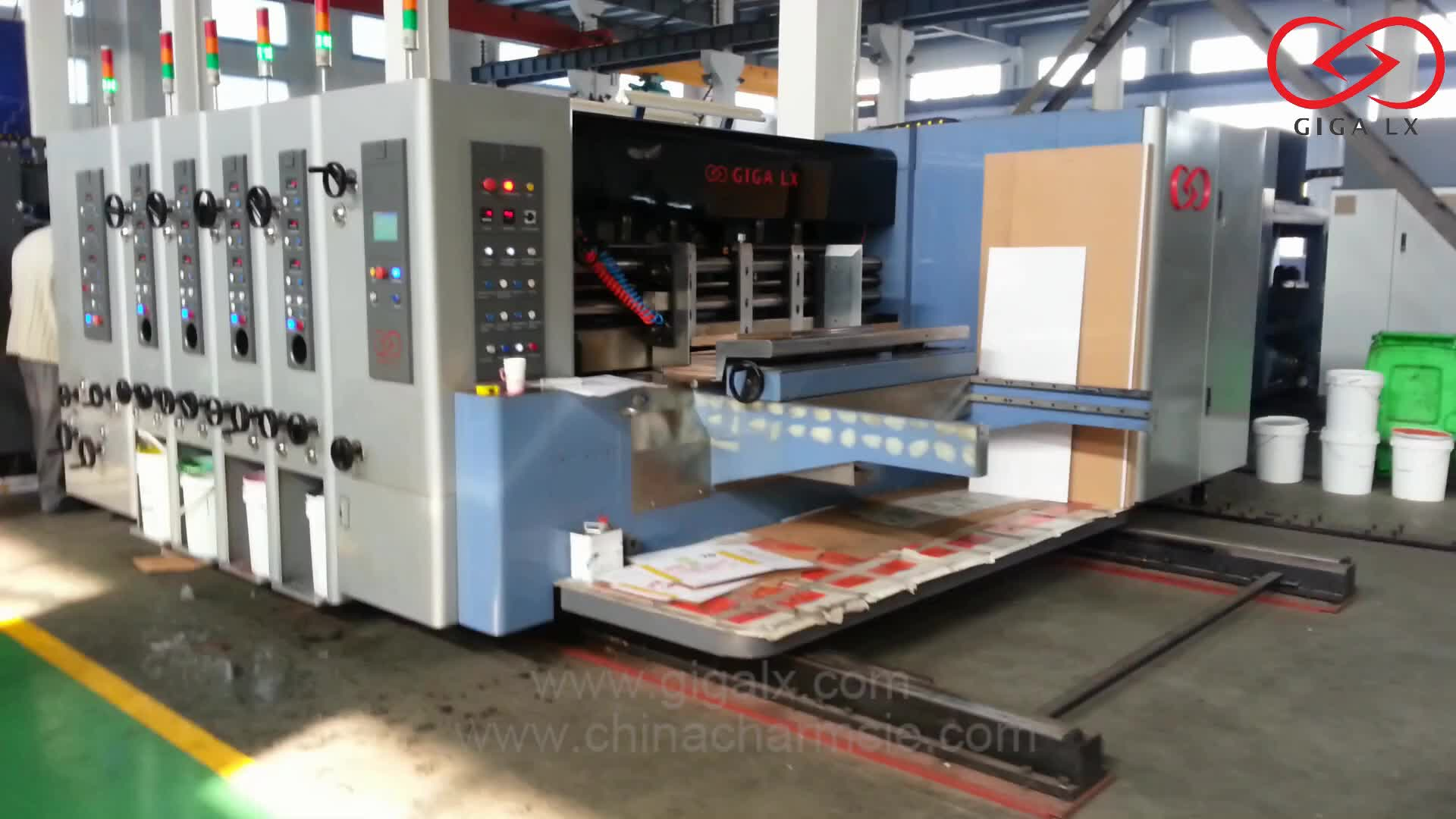 corrugated carton automatic in-line folder gluer flexo printing machine price