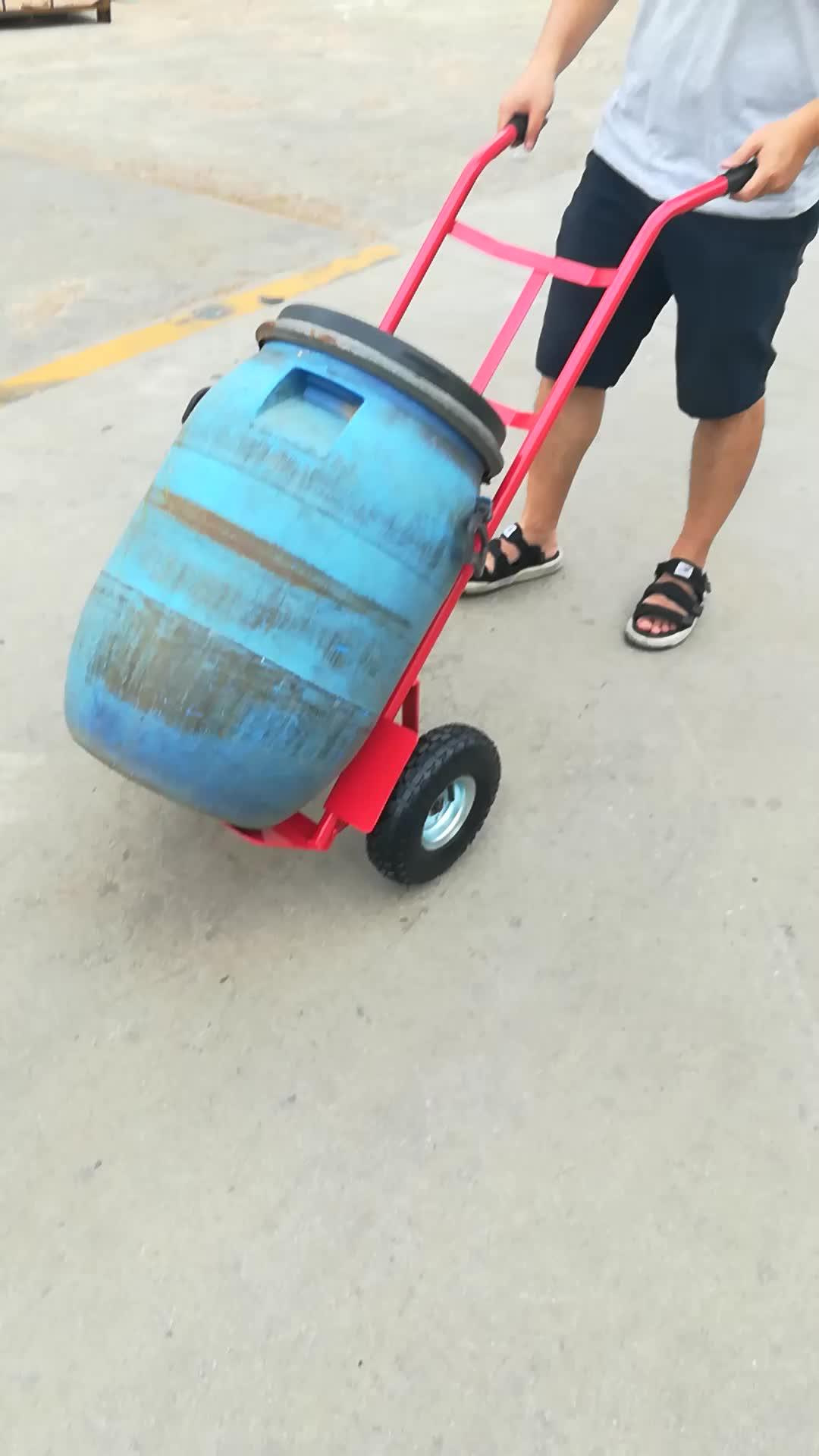 Heavy duty sack truck red hand trolley pneumatic wheels