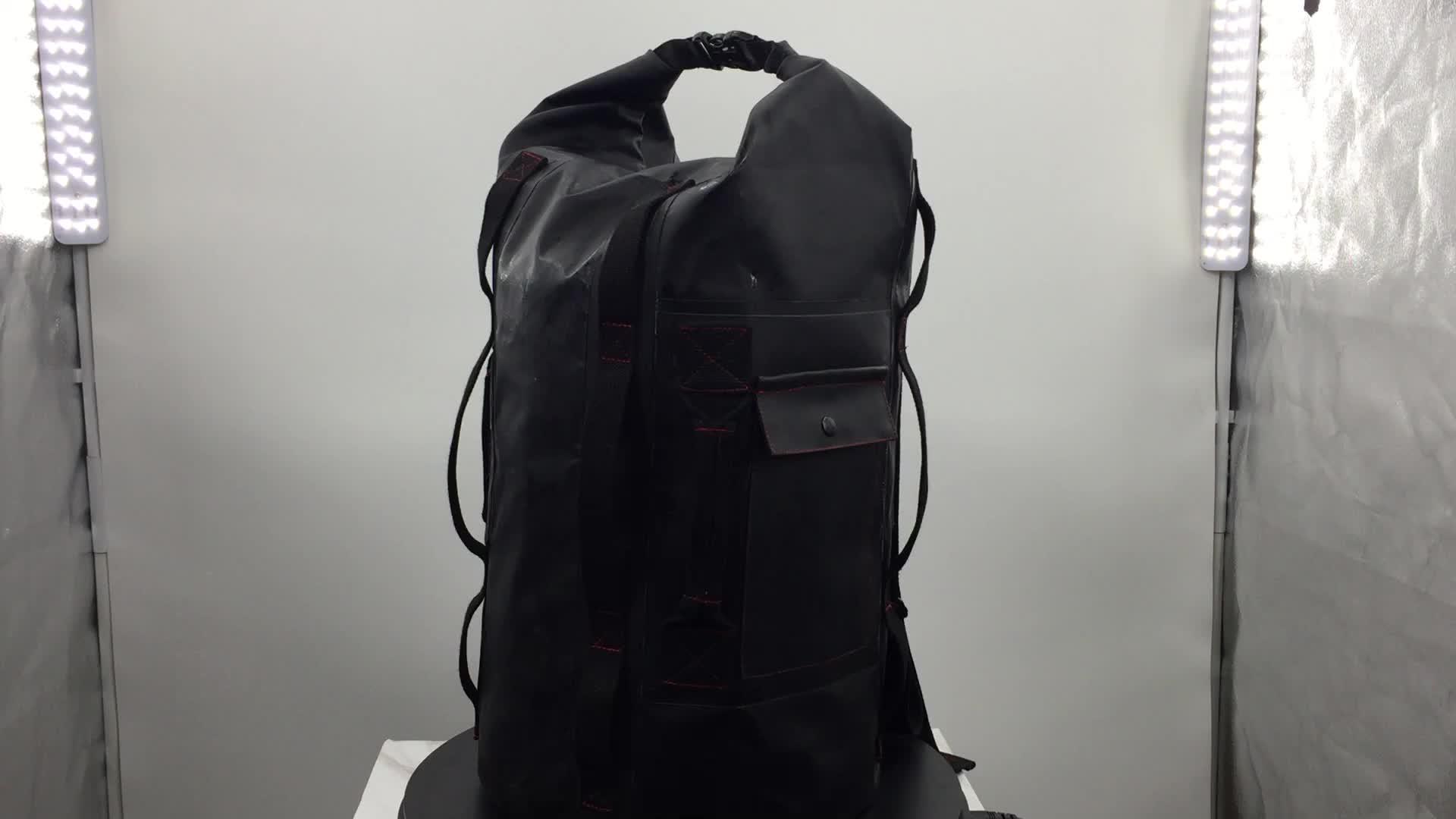 Dry ผจญภัยเกียร์ custom กลางแจ้งกระเป๋า 500D PVC ผ้าใบกันน้ำกระเป๋าอุปกรณ์กีฬาผจญภัยกระเป๋าเป้สะพายหลัง