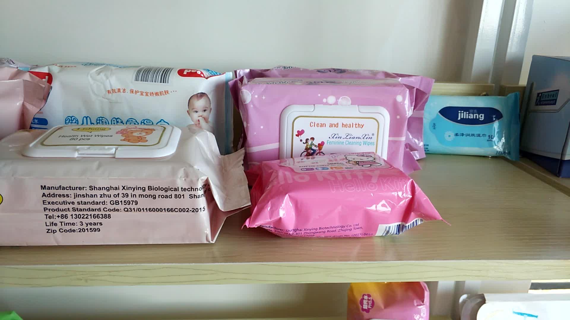 Pacote de bolso Preço Competitivo Tecido Cuidados Com A Pele Do Bebê Meninas Lenços Umedecidos Descartáveis Guardanapo